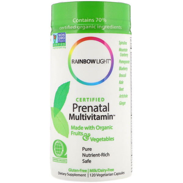 Rainbow Light, Certified Prenatal Multivitamin, 120 Vegetarian Capsules