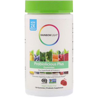 Rainbow Light, Probiolicious Plus Gummies, Berry, 120 Gummies