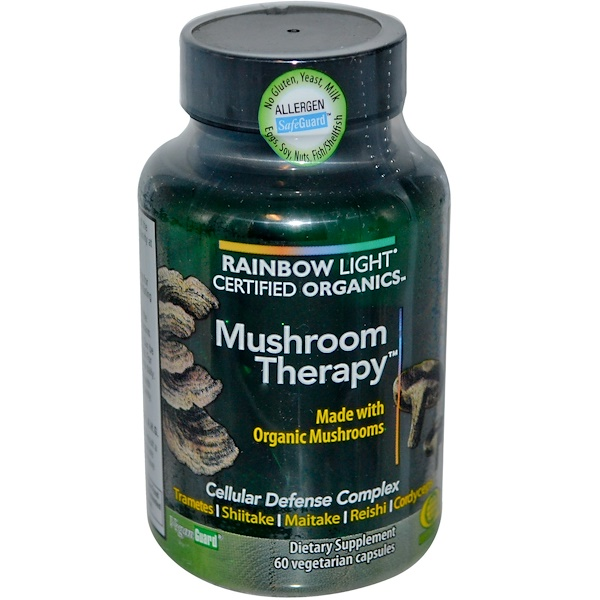 Rainbow Light, Certified Organics, Mushroom Therapy, 60 Veggie Caps (Discontinued Item)