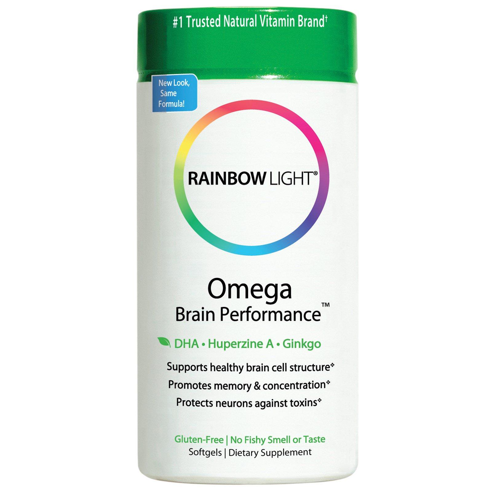 Rainbow Light, Омега для работы мозга, 60 мягких капсул
