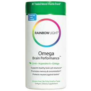 Rainbow Light, Omega Brain Performance, 60 Softgels