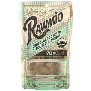 Rawmio, Chocolate Covered Sprouted Almonds, 2 oz (56.7 g)