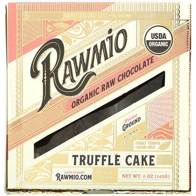 Rawmio Organic Raw Chocolate Truffle Cake, 5 oz (142 g)  - купить со скидкой
