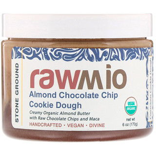 Rawmio, Almond Chocolate Chip Cookie Dough Spread with Maca, 6 oz (170 g)