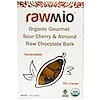 Rawmio, Organic Gourmet Sour Cherry and Almond Raw Chocolate Bark, 1.76 oz (50 g)