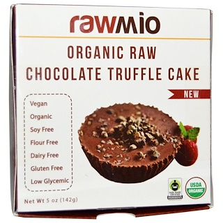 Rawmio, Organic Raw Chocolate Truffle Cake, 5 oz (142 g)