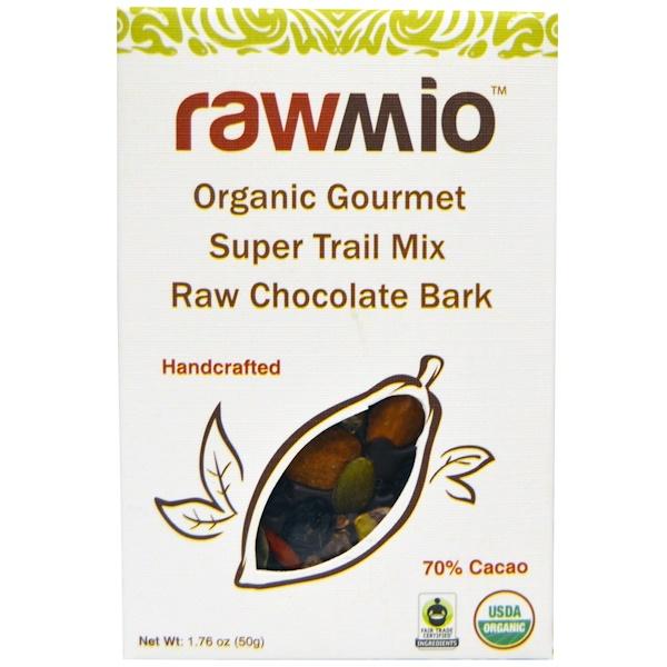 Rawmio, オーガニック グルメ スーパートレイルミックス ロー チョコレート バーク、1.76 oz (50 g) (Discontinued Item)