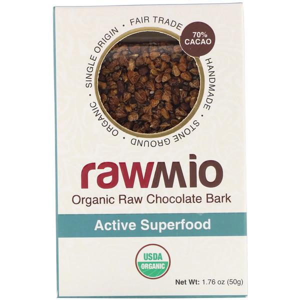 Rawmio, Organic Active Superfood Raw Chocolate Bark, 1.76 oz (50 g) (Discontinued Item)