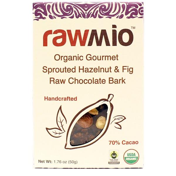 Rawmio, البندق والتين الخام العضوي، الشوكولاته، 1.76 أوقية (50 غ) (Discontinued Item)