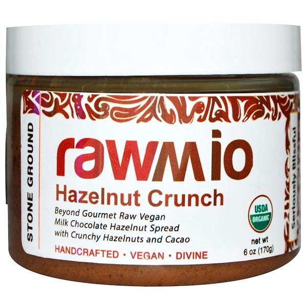 Rawmio, Organic Hazelnut Crunch Spread with Crunchy Hazelnuts and Cacao, 6 oz (170 g) (Discontinued Item)