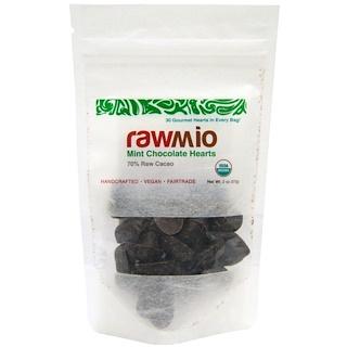 Rawmio, Corazones de chocolate con menta, 57 g (2 oz)