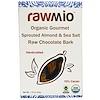 Rawmio, لحاء شوكولاتة خام عضوي باللوز النابت وملح البحر شهي، 1.76 أونصة (50غ)