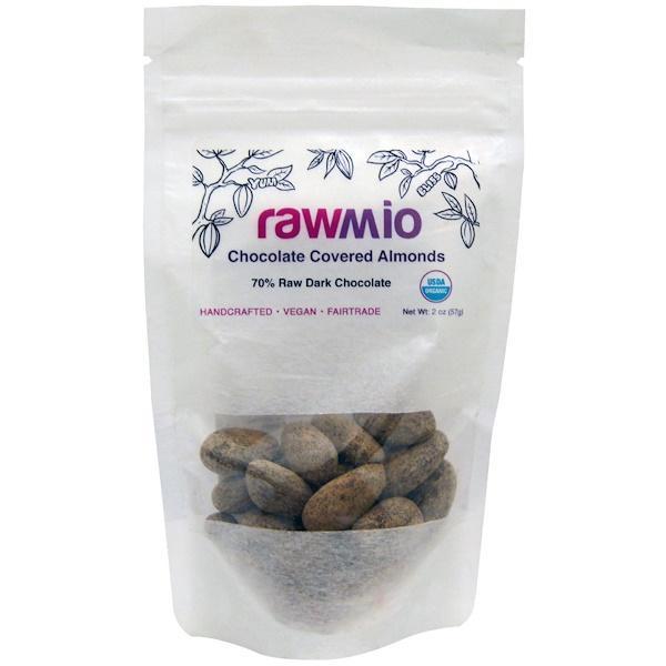 Rawmio, Chocolate Covered Almonds, 2 oz (57 g)