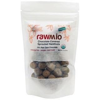 Rawmio, Пророщенный фундук в шоколаде, 2 унции (57 г)