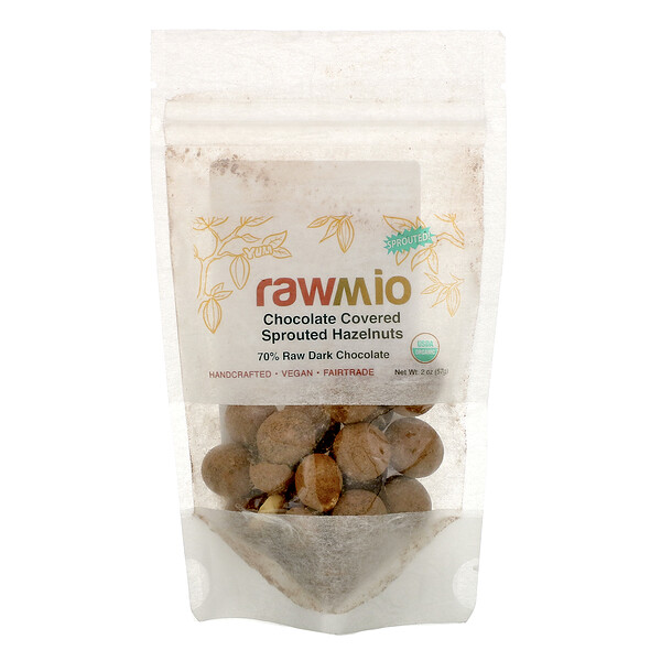 Rawmio, Chocolate Covered Sprouted Hazelnuts, 2 oz (57 g) (Discontinued Item)