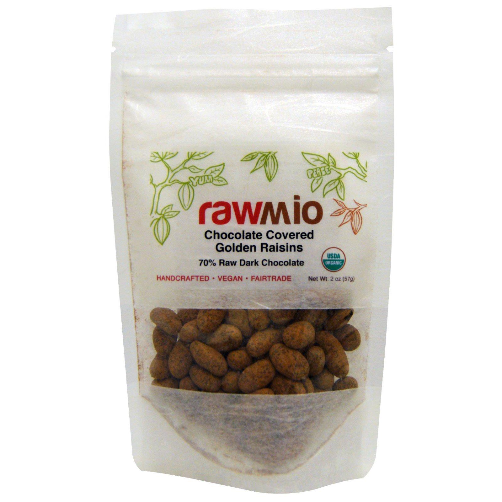 Rawmio, Золотистый изюм в шоколаде, 2 унции (57 г)
