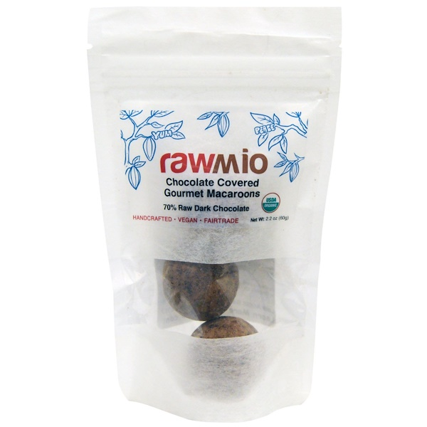 Rawmio, Chocolate Covered Gourmet Macaroons, 2.2 oz (60 g) (Discontinued Item)