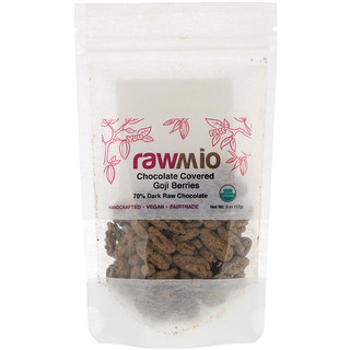 Rawmio, Organic Chocolate Covered Goji Berries,  2 oz (57 g)