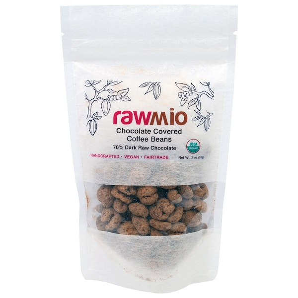 Rawmio, Chocolate Covered Coffee Beans, 2 oz (57 g) (Discontinued Item)