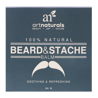 Artnaturals, 100% Natural, Beard & Stache Balm, 60 g