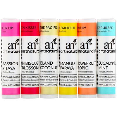 Купить Artnaturals Lip Balm Set, 6 Lip Balms, 0.15 oz (4.25 g) Each
