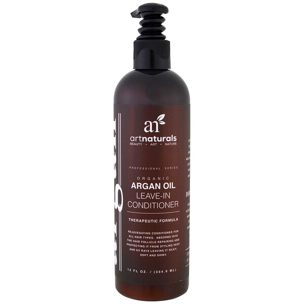 Artnaturals, Organic Argan Oil Leave-In Conditioner, Therapeutic Formula , 12 fl oz (354.9 ml)