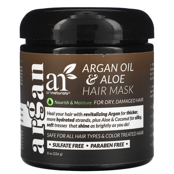 Argan Oil & Aloe Hair Mask, 8 oz (226 g)