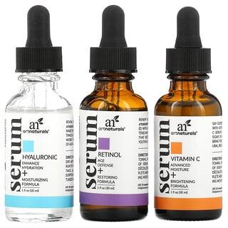 Artnaturals, Serum Trio Set, 3 Serums, 1 fl oz (29.5 ml) Each
