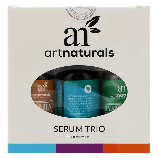 Artnaturals, Serum Trio Set, 3 Serums, 1 fl oz (29.5 ml) Each