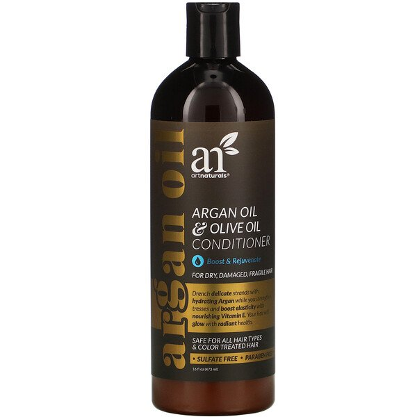 Argan Oil & Olive Oil Conditioner, Boost & Rejuvenate, 16 fl oz (473 ml)