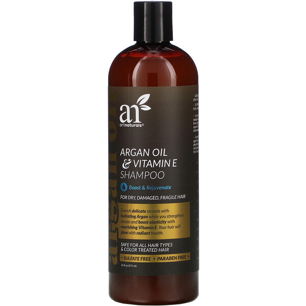Artnaturals, Argan Oil & Vitamin E Shampoo, 16 fl oz (473 ml)
