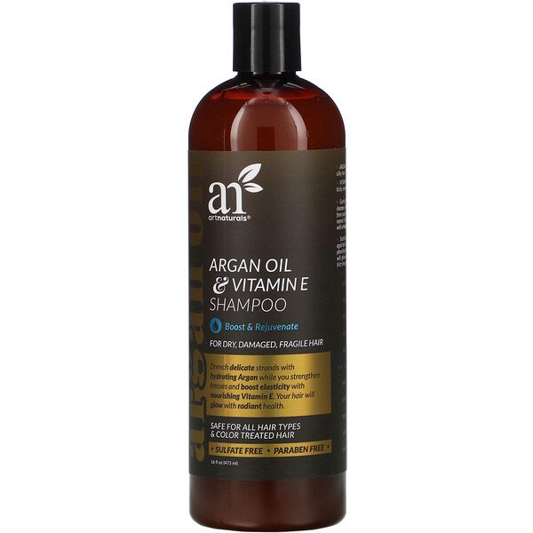 Argan Oil & Vitamin E Shampoo, 16 fl oz (473 ml)