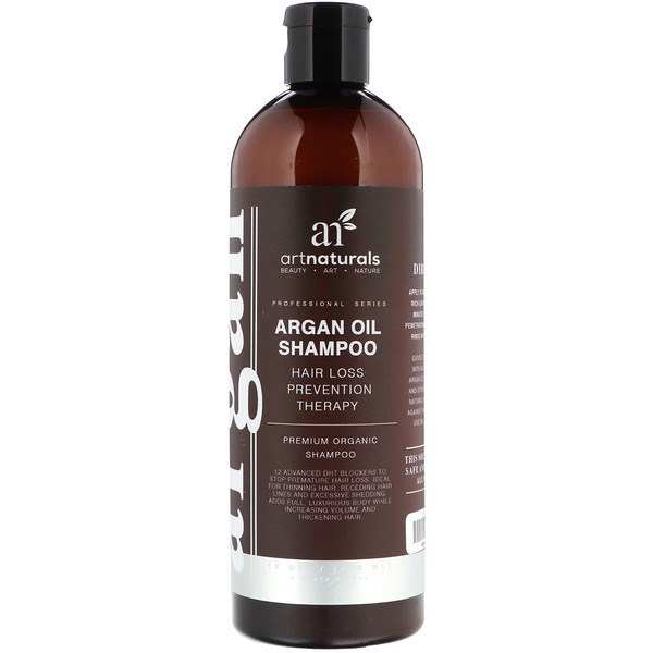 Artnaturals, Argan Oil Shampoo, Hair Loss Prevention Therapy, 16 fl oz (473 ml)