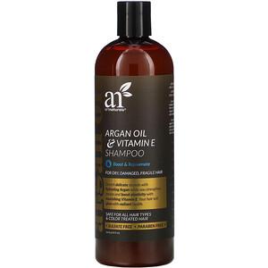 Арт Натуралс, Argan Oil & Vitamin E Shampoo, 16 fl oz (473 ml) отзывы покупателей