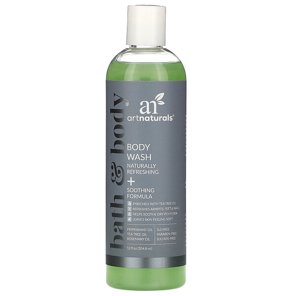 Body Wash, Naturally Refreshing + Soothing Formula, 12 fl oz (354.8 ml)