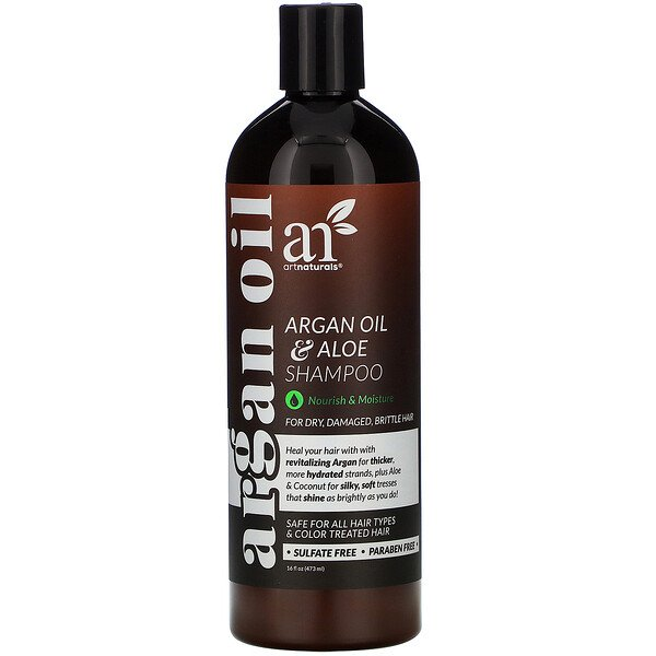Artnaturals, Argan Oil & Aloe Shampoo, 16 fl oz (473 ml)