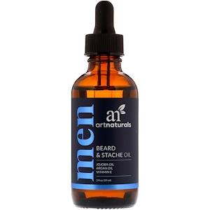 Арт Натуралс, Beard & Stache Oil, 2 fl oz (59 ml) отзывы покупателей