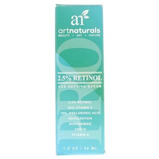 Artnaturals, 2.5%レチノール老化防止セラム、1.0オンス (30 ml)