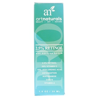 Artnaturals, Sérum anti-âge au rétinol 2,5%, 30 ml (1,0 oz)