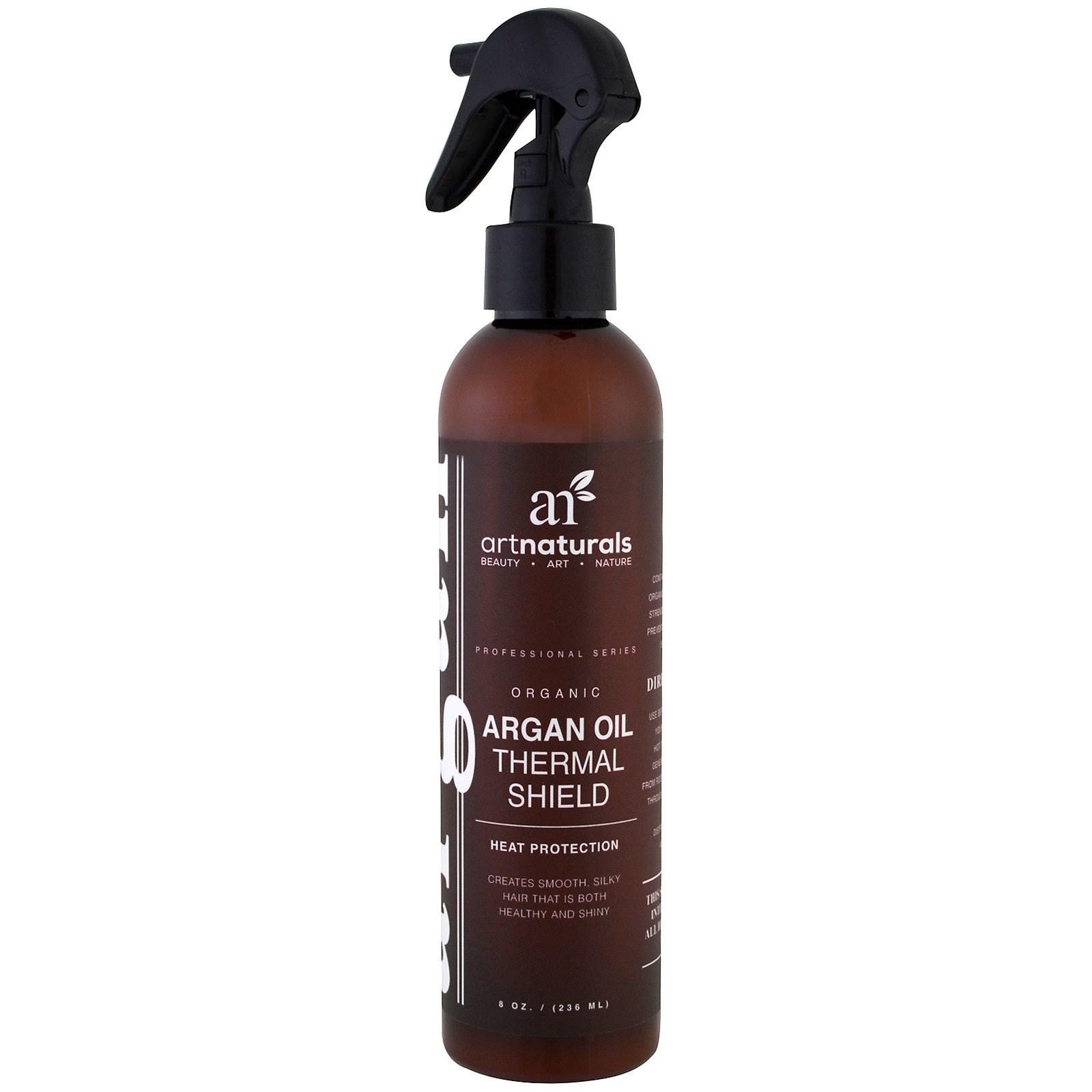 Artnaturals, Термозащитный спрей с аргановым маслом, защита волос от повреждения при нагреве, 8 унций (236 мл)