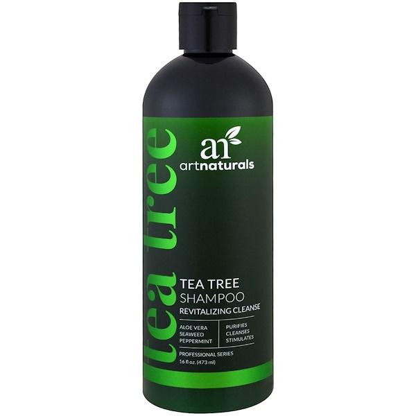 Artnaturals, 茶樹洗髮水,活膚清潔,16液體盎司(473毫升)
