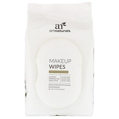 Купить Artnaturals Салфетки для снятия макияжа, 30 салфеток
