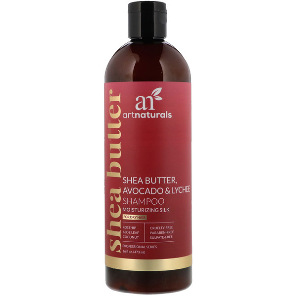 Shea Butter, Avocado & Lychee Shampoo, Moisturizing Silk, For Dry Hair, 16 fl oz (473 ml)