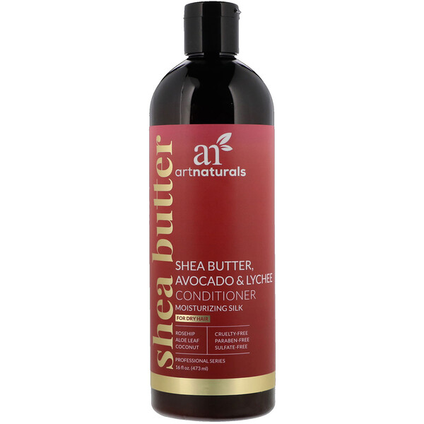Shea Butter, Avocado & Lychee Conditioner, Moisturizing Silk, For Dry Hair, 16 fl oz (473 ml)