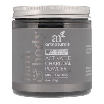 Купить Artnaturals Активированный уголь в виде порошка, Со вкусом мяты, 4 унц. (113 г)