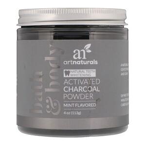 Арт Натуралс, Activated Charcoal Powder, Mint Flavored, 4 oz (113 g) отзывы покупателей