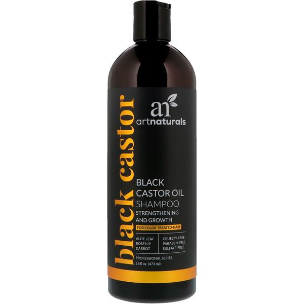 Artnaturals, 黑蓖麻油洗髮露,強化和生長,16液量盎司(473毫升)