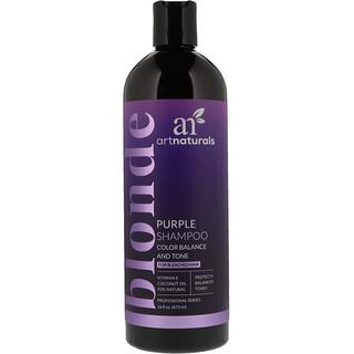 Artnaturals, パープルシャンプー、カラーのバランスと色合い、16 fl oz (473 ml)