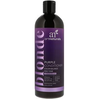 Artnaturals, Condicionador roxo, equilíbrio de cores e tom, 16 fl oz (473 ml)