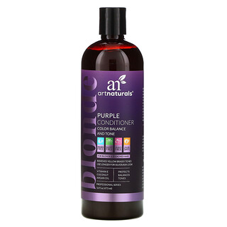 Artnaturals, بلسم أرجواني لشعر أشقر، توازن اللون ودرجة اللون، 16 أونصة سائلة (473 مل)